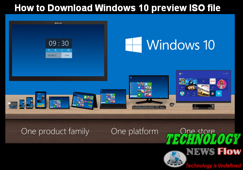 How to Download Windows 10 preview ISO file
