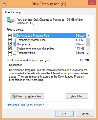 choose the files to delete