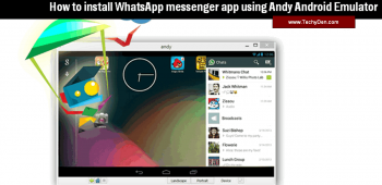 How to install the WhatsApp messenger app using Andy Android Emulator?