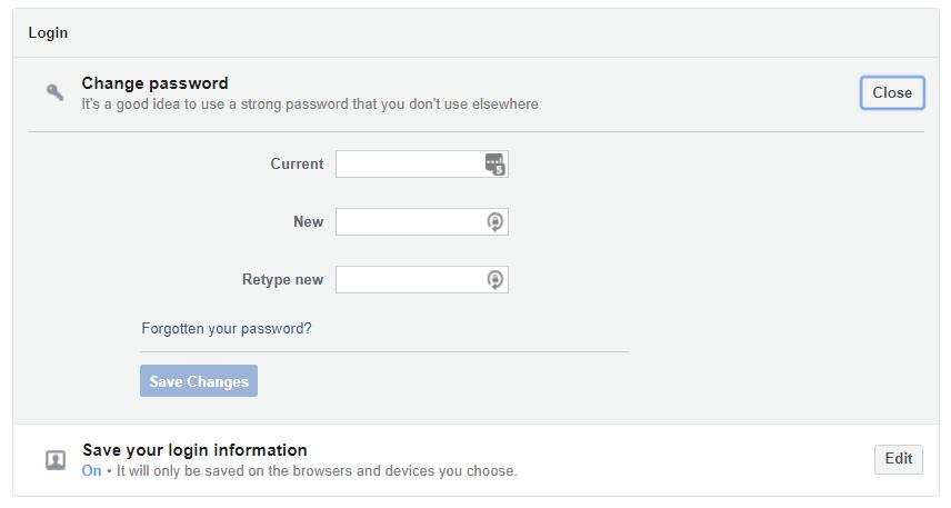 change password now