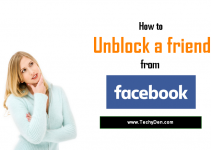How to unblock a friend from Facebook