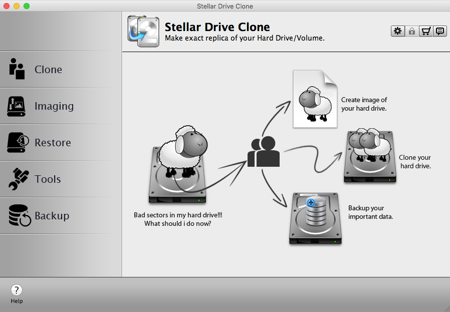 stellar drive clone application