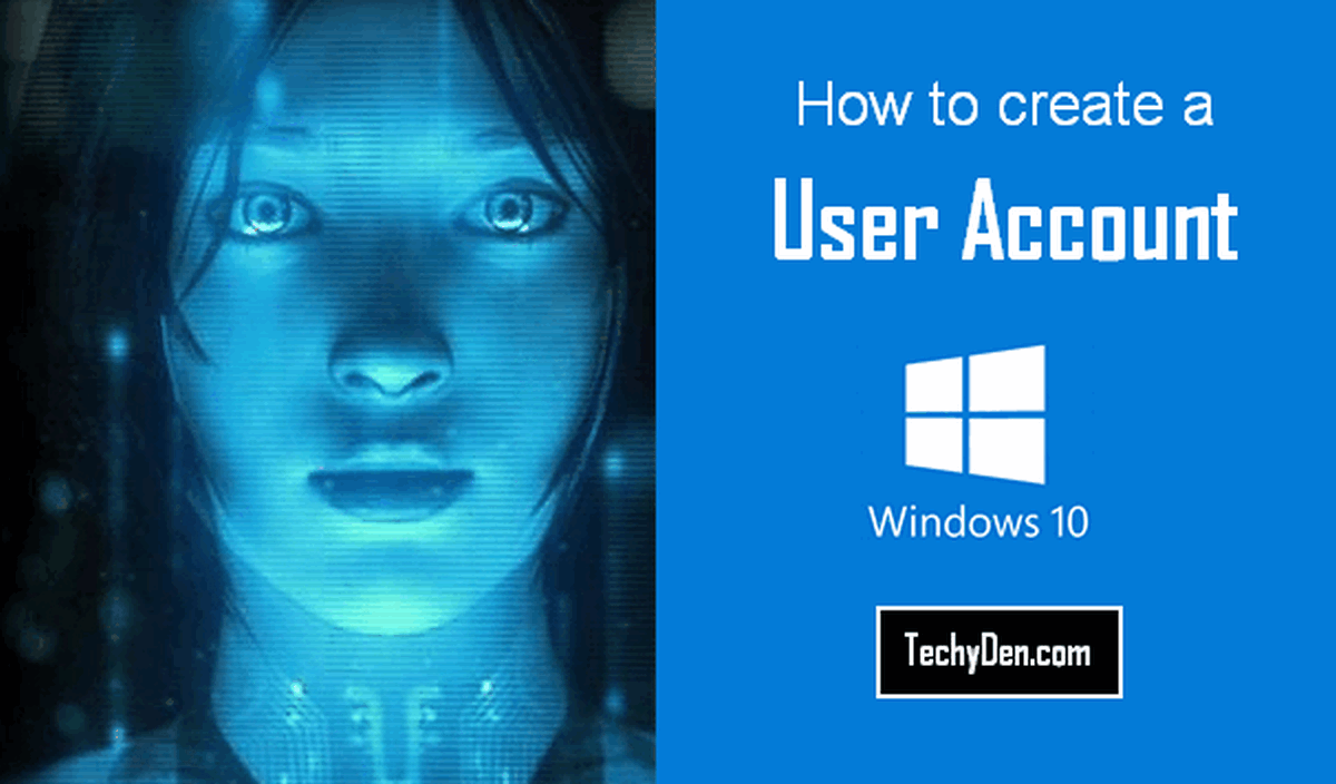 How to create a user account in windows 10?