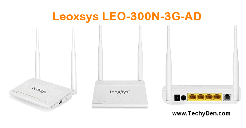 Leoxsys LEO-300N-3G-AD Multifunctional 300mbps ADSL modem Router