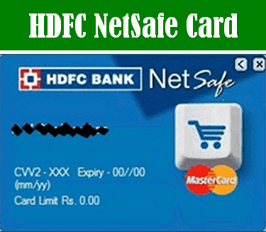 HDFC Netsafe card
