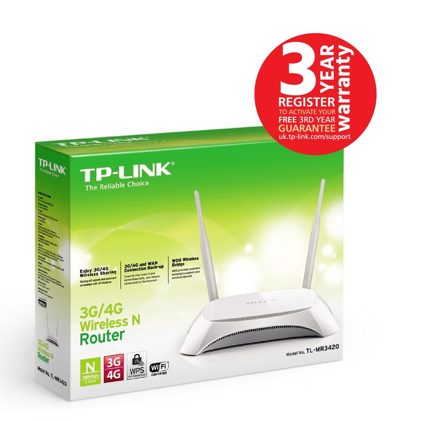 TP-LINK TL-MR3420 300 Mbps 3G Routers Wifi Router