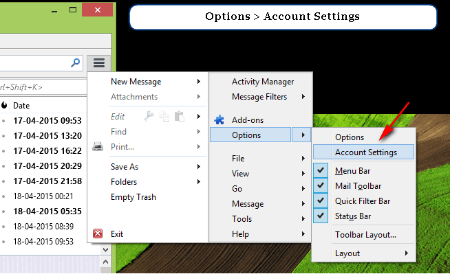 How to Configure Outlook Emails IMAP in Thunderbird Email Client? 1