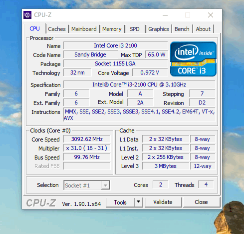 cpu-z software