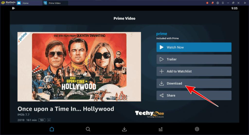 prime video app in Bluestacks