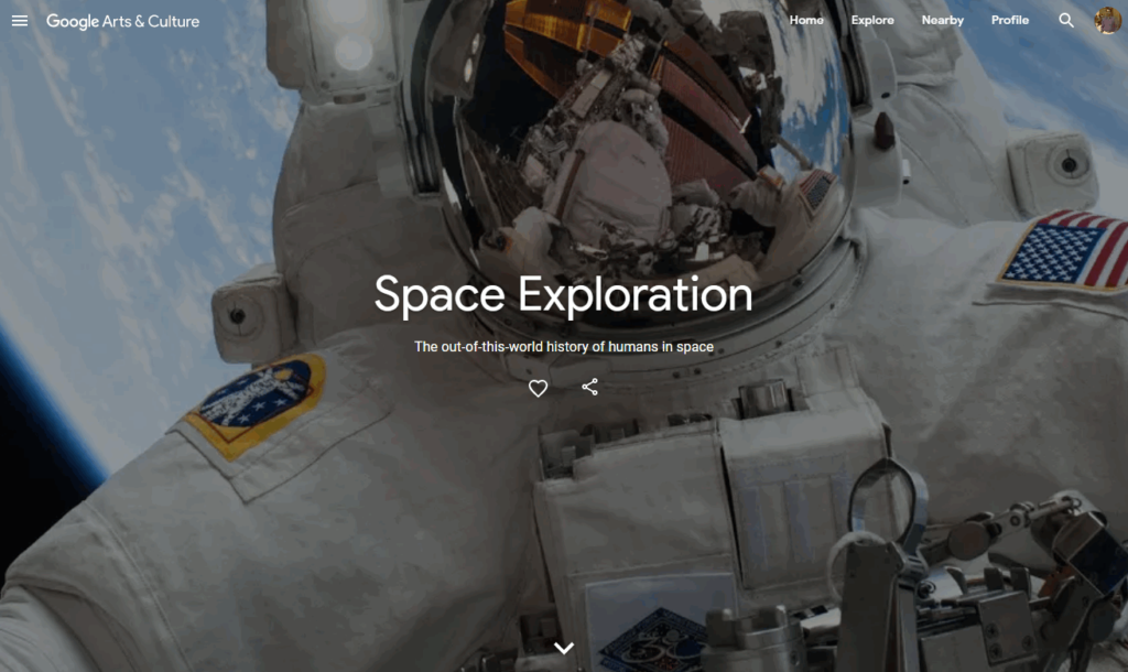 google space exploration project
