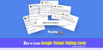 How to Create Google Virtual Visiting Cards?